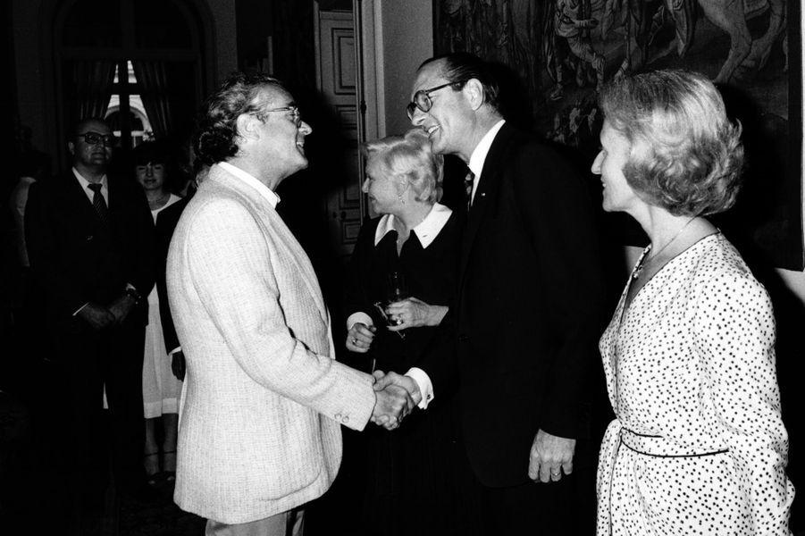 Guy Béart avec Jacques Chirac en 1983