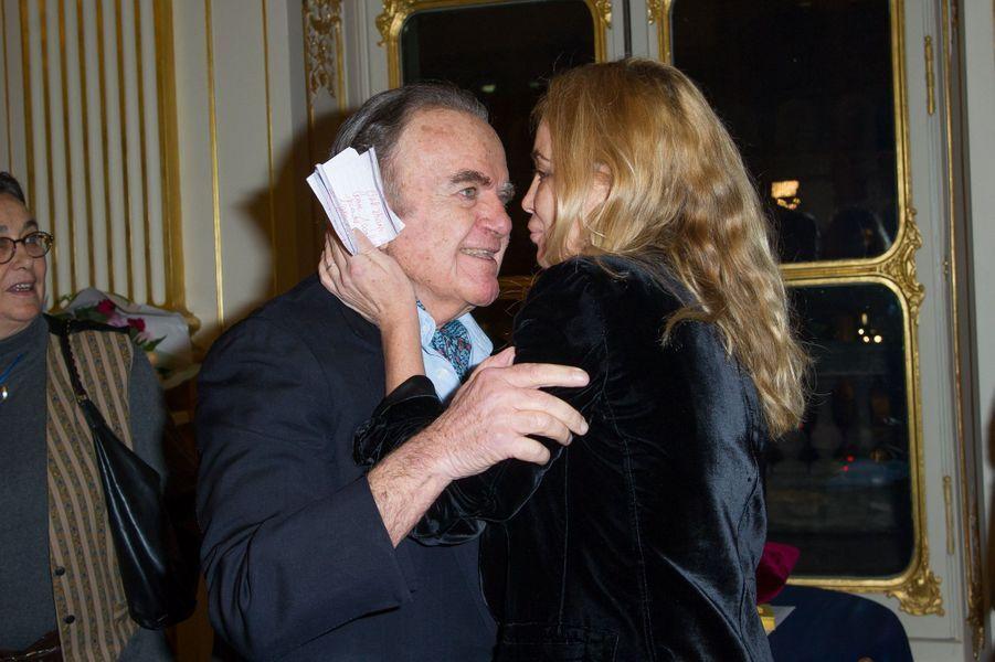Guy Béart et sa fille Emanuelle, en 2012