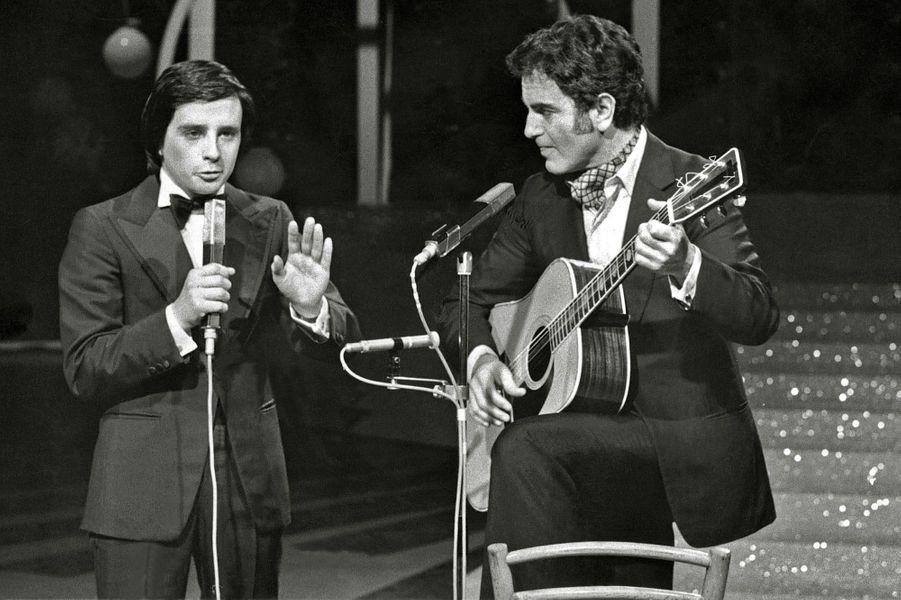 Thierry Le Luron et Guy Béart, le 5 avril 1974