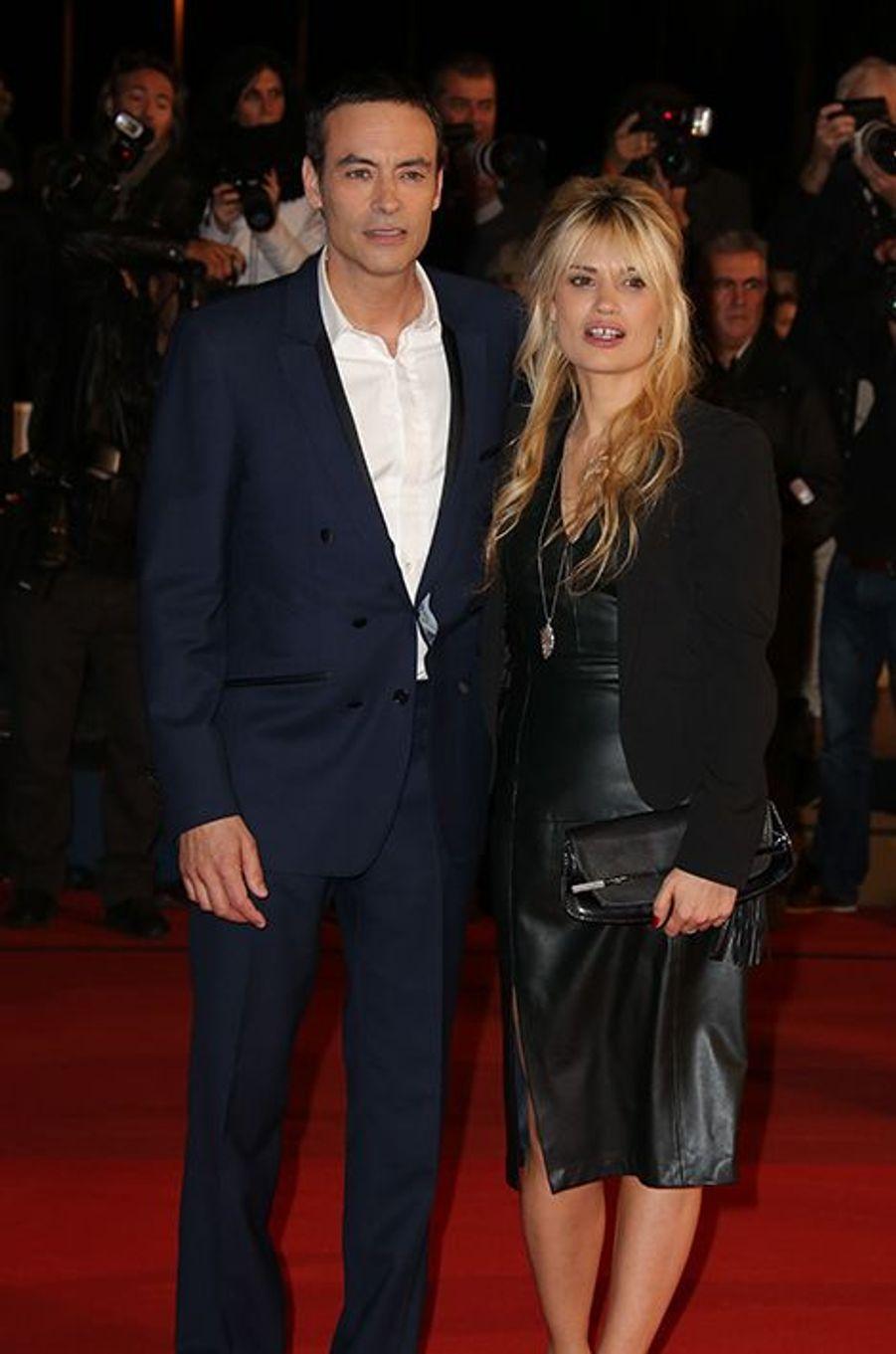 Anthony Delon et sa compagne à Cannes le 13 décembre 2014