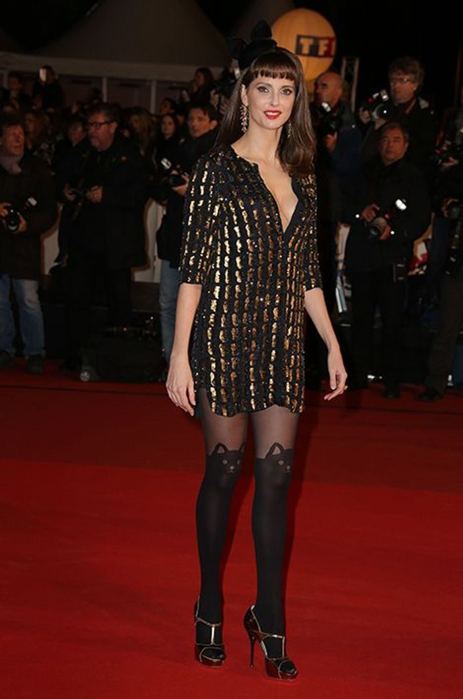 Frédérique Bel à Cannes le 13 décembre 2014