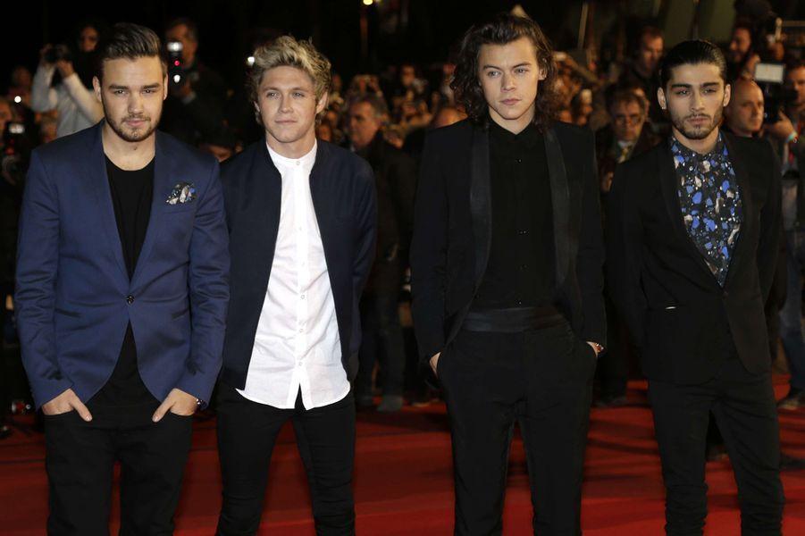 Le groupe One Direction à Cannes le 13 décembre 2014