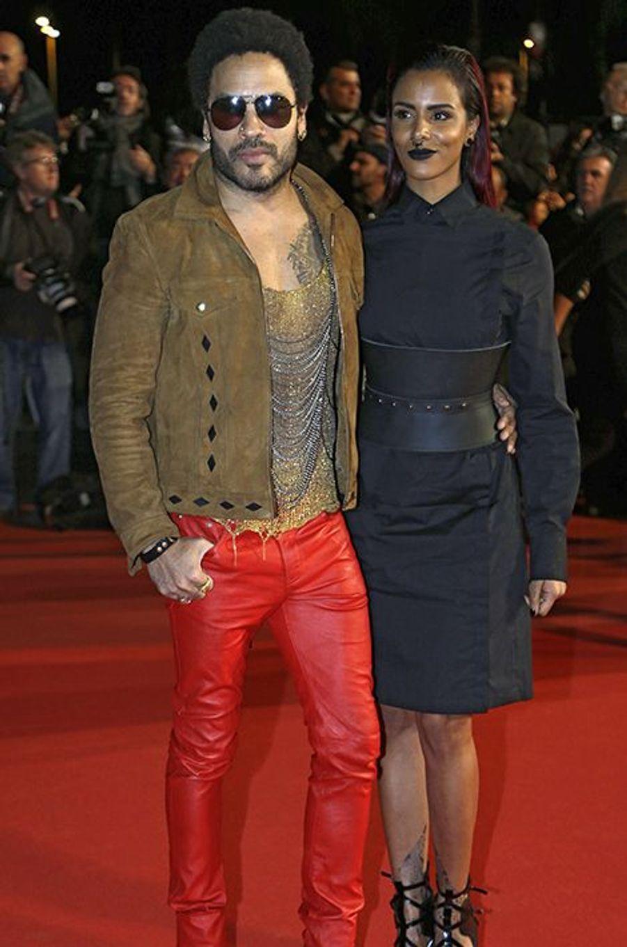 Lenny Kravitz et Shy'm à Cannes le 13 décembre 2014
