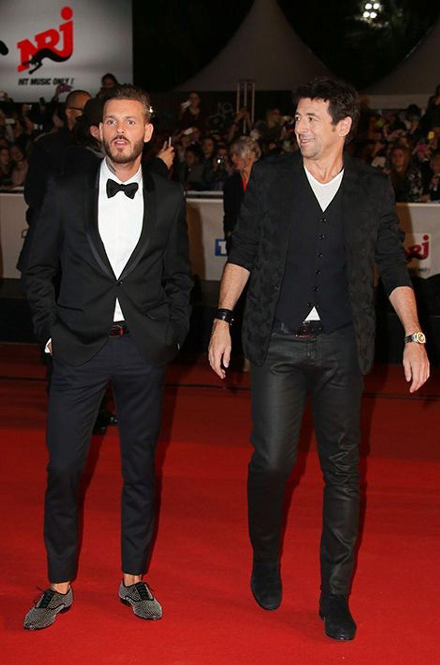 M. Pokora et Patrick Bruel à Cannes le 13 décembre 2014