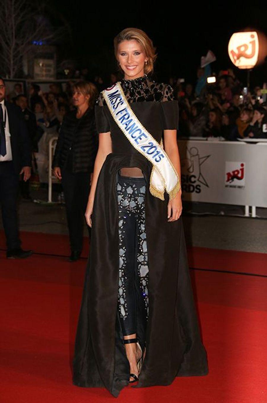 Miss France 2015, Camille Cerf, à Cannes le 13 décembre 2014