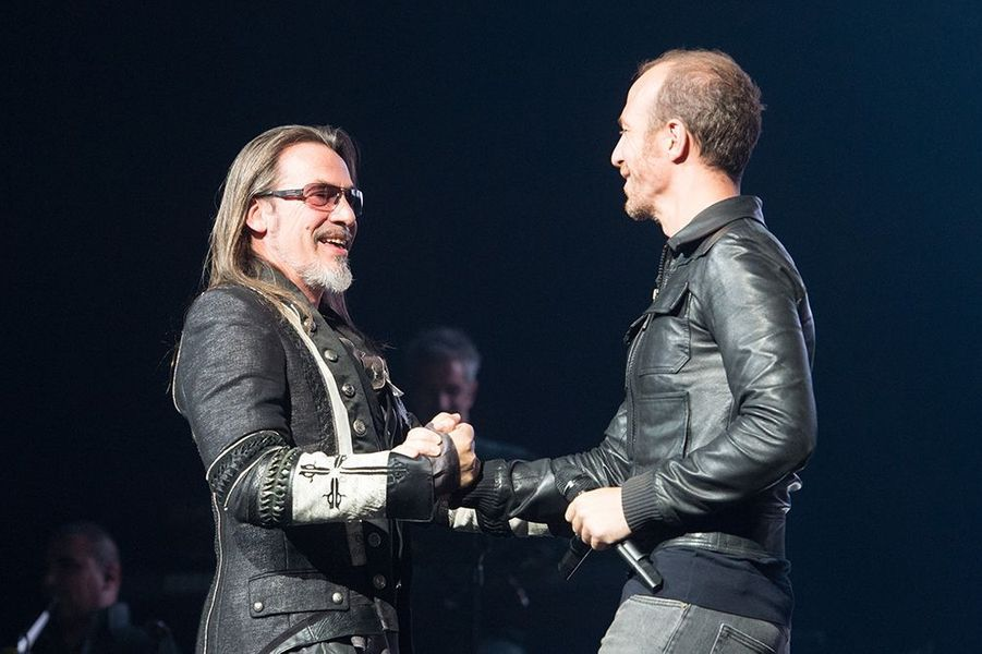Florent Pagny et Calogero au Titty Twister de Paris le 1er octobre 2014