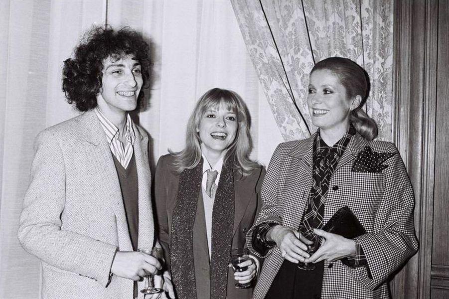 Avec Michel Berger et Catherine Deneuve, en 1978.