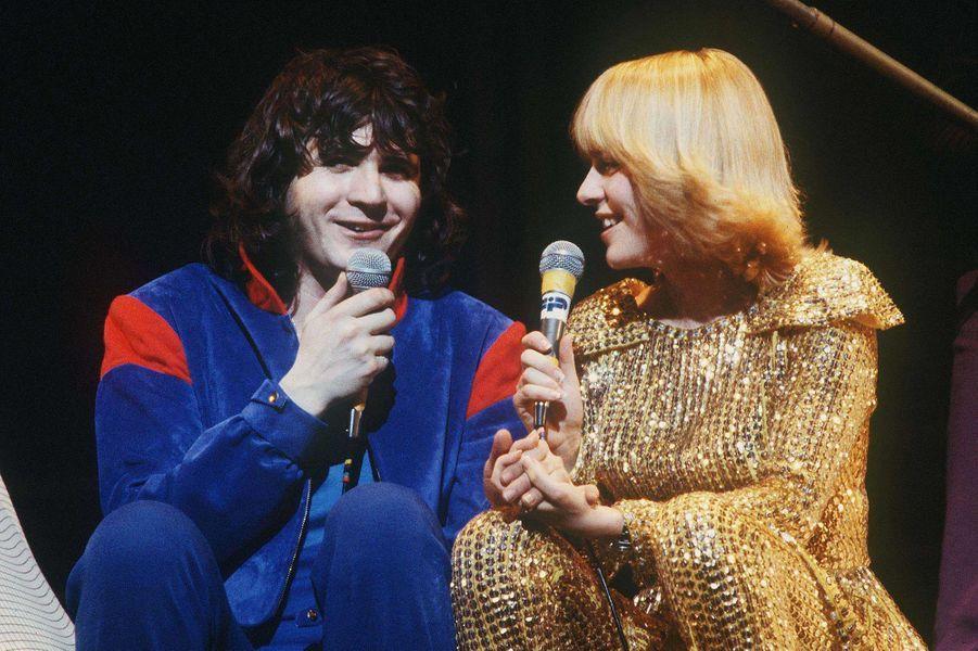 """Avec Daniel Balavoine en 1979 pourl'opéra-rock """"Starmania"""" composé par Michel Berger."""