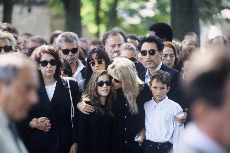 Obsèques de Michel Berger en août 1992.