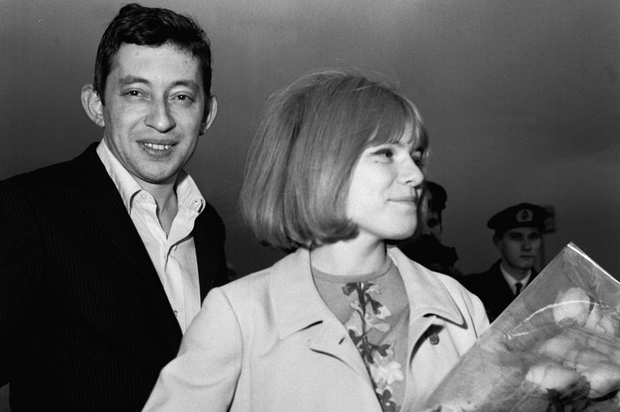 Avec Serge Gainsbourg en 1968.