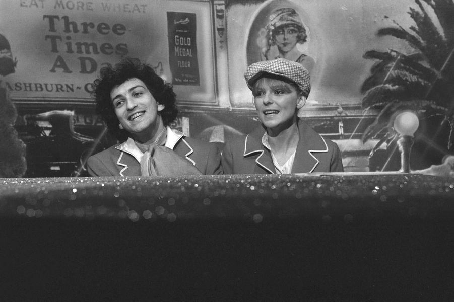 France Gall et Michel Berger à la télévision en mai 1976. Le couple se mariera en juin.
