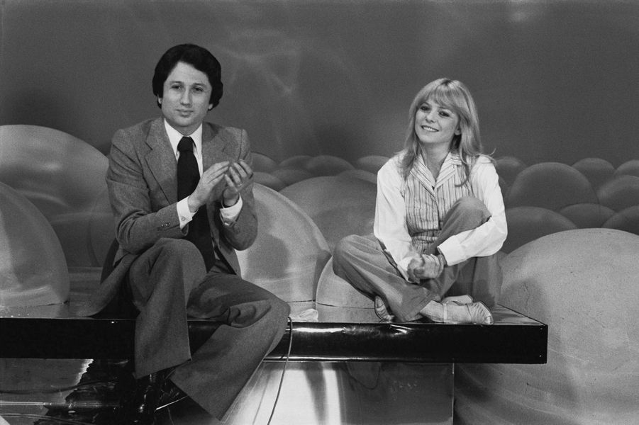 Avec Michel Drucker, en 1978.
