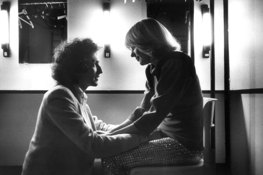 """Photo prise à Paris le 15 avril 1979 au Palais des Congrès avant la représentation de """"Starmania""""."""