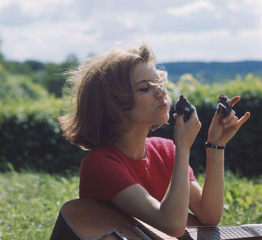 France Gall à 16 ans, dans la maison familiale dans l'Yonne.
