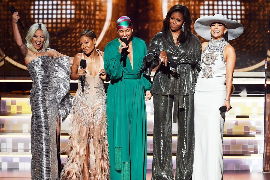 Lady Gaga,Jada Pinkett Smith, Alicia Keys, Michelle Obama et Jennifer Lopez