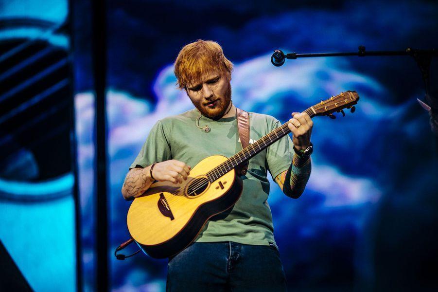 Ed Sheeran à Lyon vendredi soir.