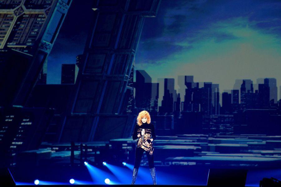 Mylène Farmer à la Paris Défense Arena, vendredi 7 juin 2019.