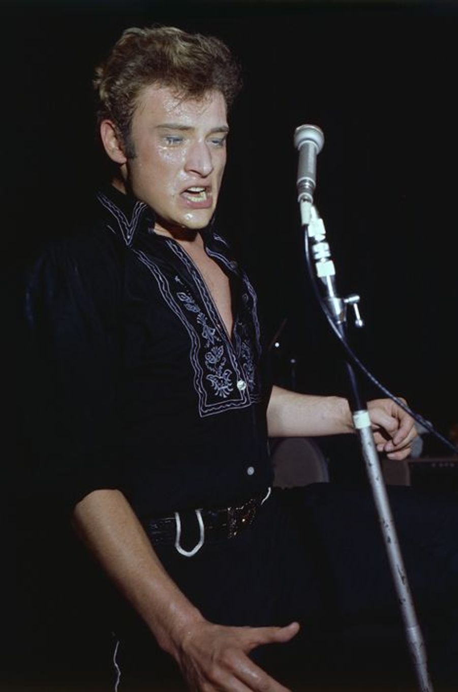 Johnny chante à Yvoy-le-Marron, en juillet 1963
