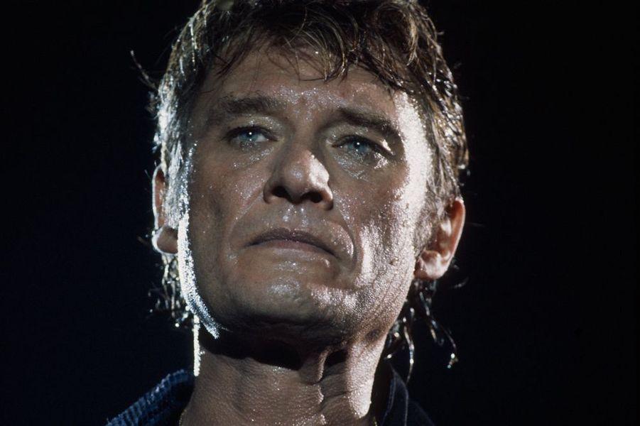 Johnny en concert à Paris Bercy, septembre 1987