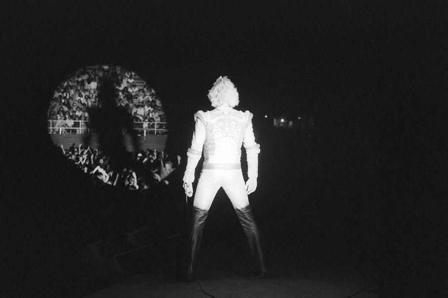 Johnny Hallyday en concert à Béziers, 13 août 1980