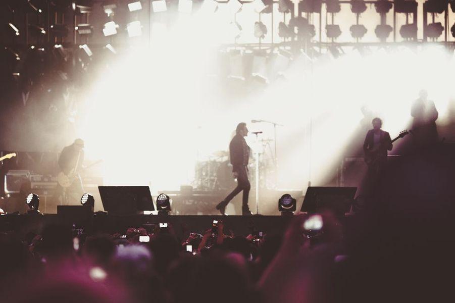 Johnny Hallyday en concert aux Francofolies de La Rochelle, juillet 2015