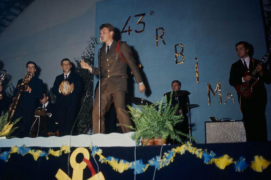 Johnny Hallyday lors de son service militaire, 1964