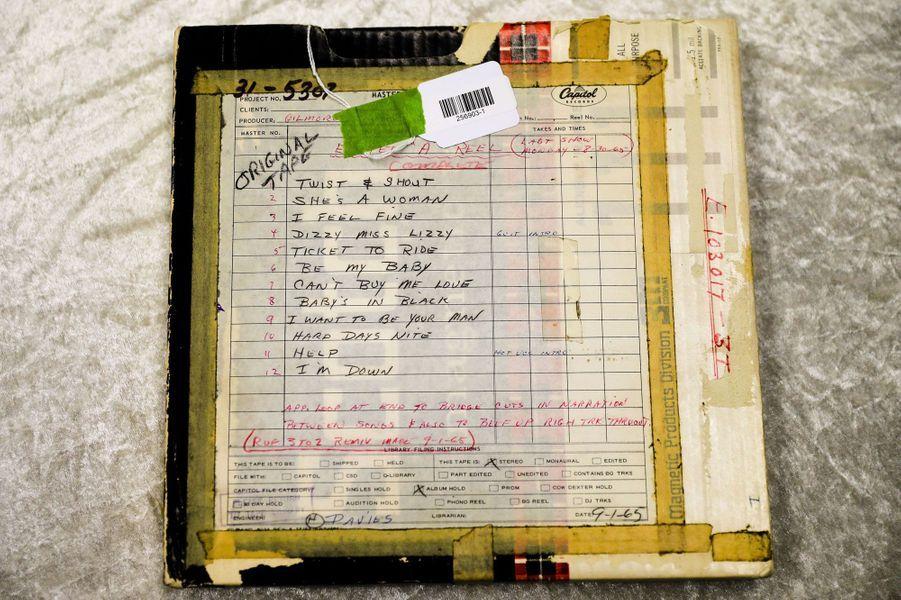 Une bande originale tirée d'un enregistrement et d'une liste de lecture d'un concert des Beatles du 30 août 1965