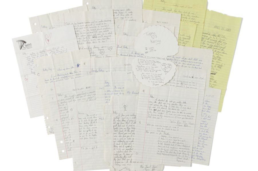Lettres rédigées par Tupac.