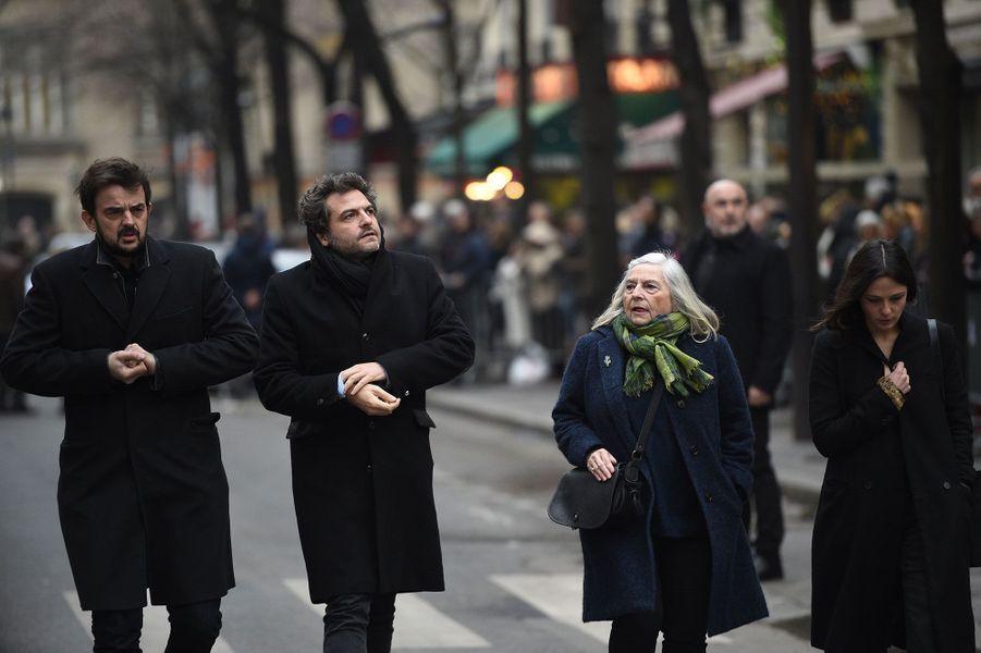 Matthieu Chedid arrivant aux obsèques de France Gall à Paris, le 12 janvier 2018.