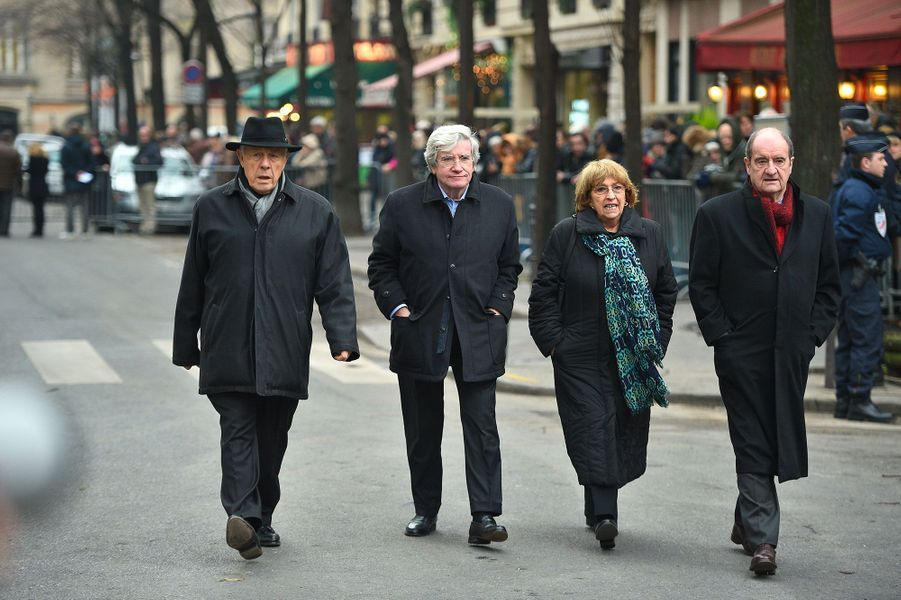 Pierre Lescure arrivant aux obsèques de France Gall à Paris, le 12 janvier 2018.
