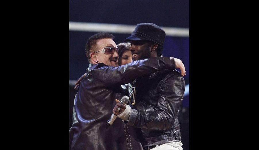 Bono et Will.i.am des Black Eyed Peas