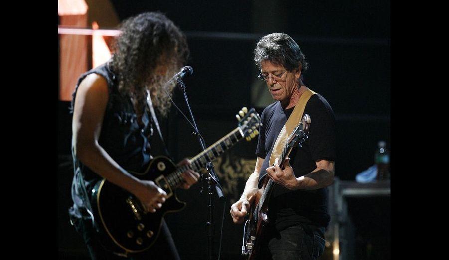 Lou Reed et le guitariste de Metallica, Kirk Hammett.