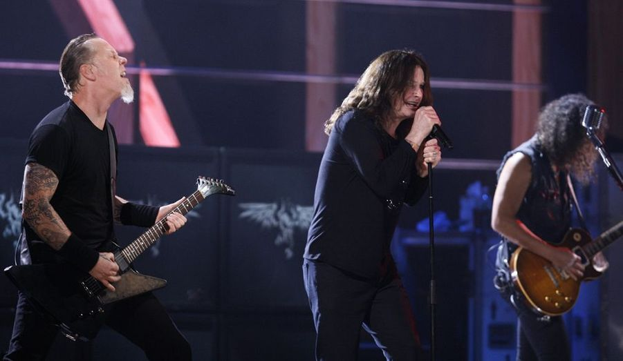 Metallica accompagne le leader de Black Sabbath, Ozzy Osbourne.