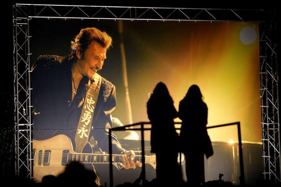 Rassemblement de fans de Johnny Hallyday à Nice