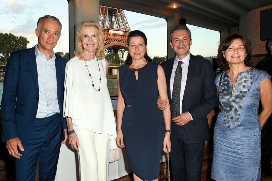 Gilles Bouleau, Melissa Bouygues, Agnès Buzyn et Yves Lévy, son mari, Elisabeth Tran-Bouleau.