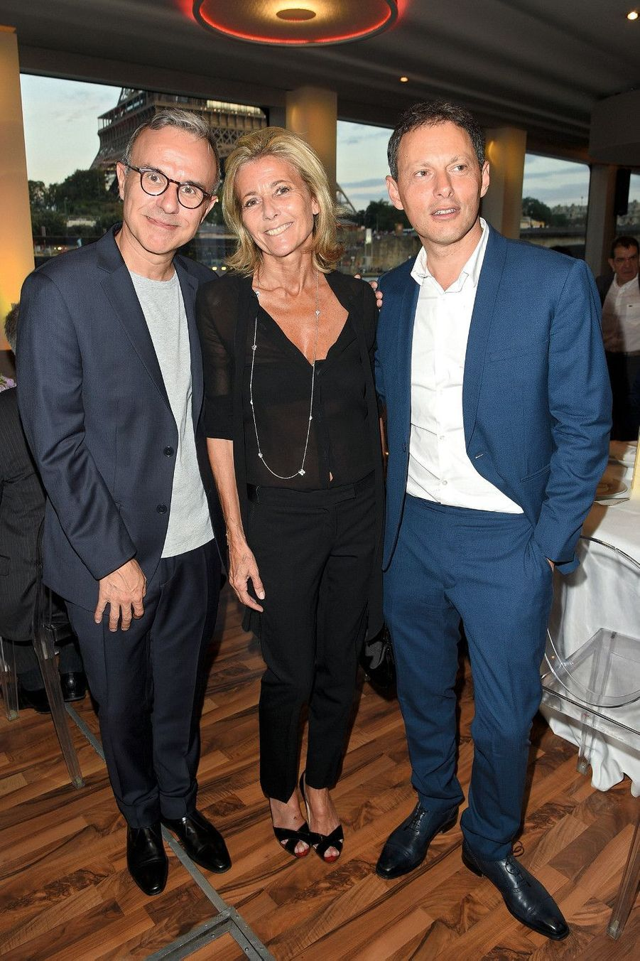 Philippe Besson, Claire Chazal, Marc-Olivier Fogiel.