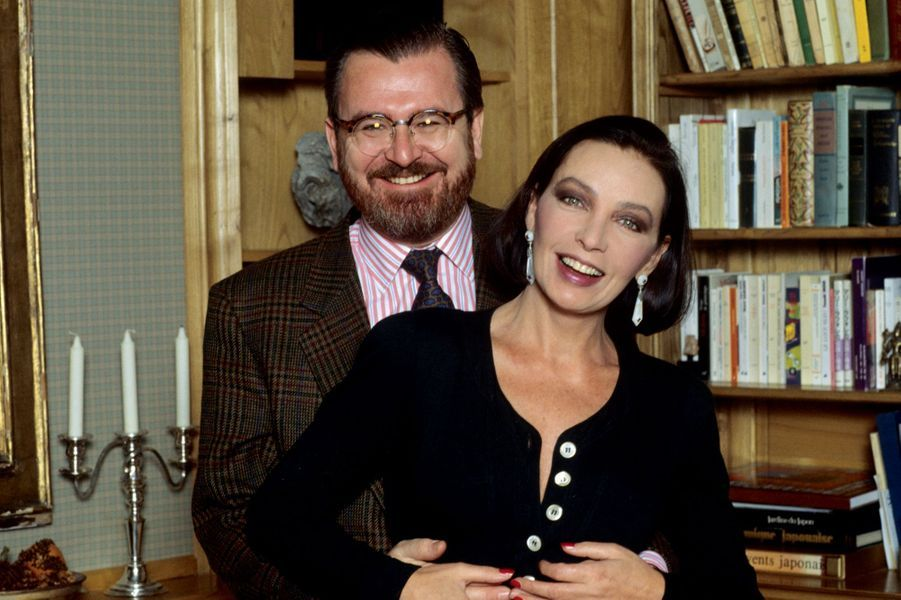 A Genève avec son dernier mari, Eric de Lavandeyra, le 2 novembre 1992. Ils divorceront deux ans plus tard.