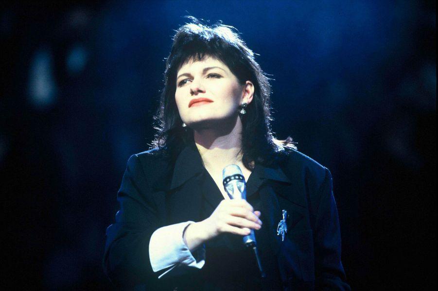 Maurane dans l'émission «Sacrée Soirée» sur TF1 en 1992.
