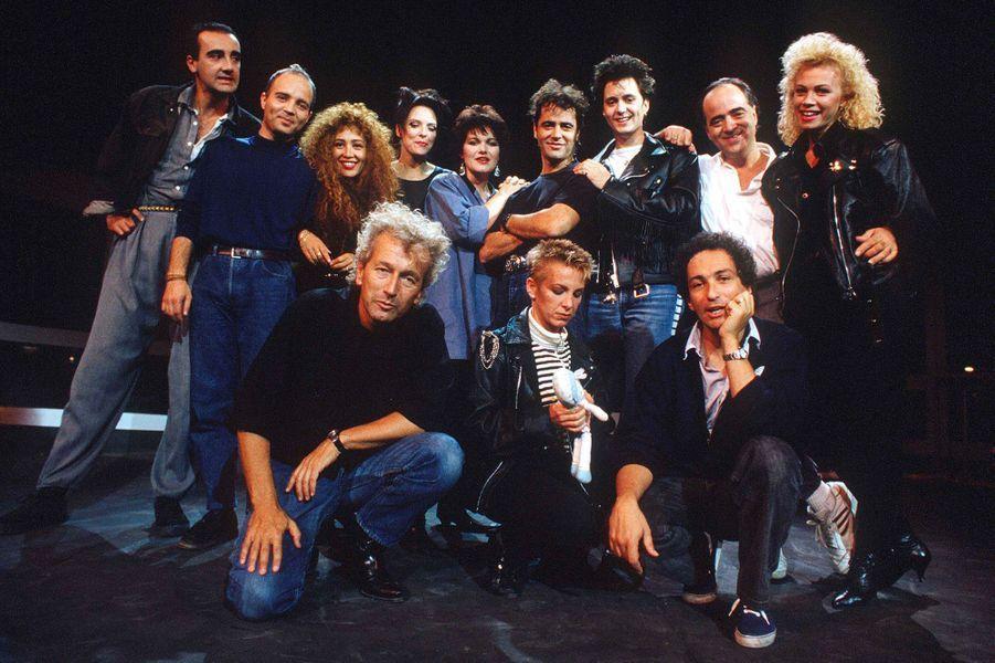 Maurane lors des répétitions de «Starmania» en août 1988.