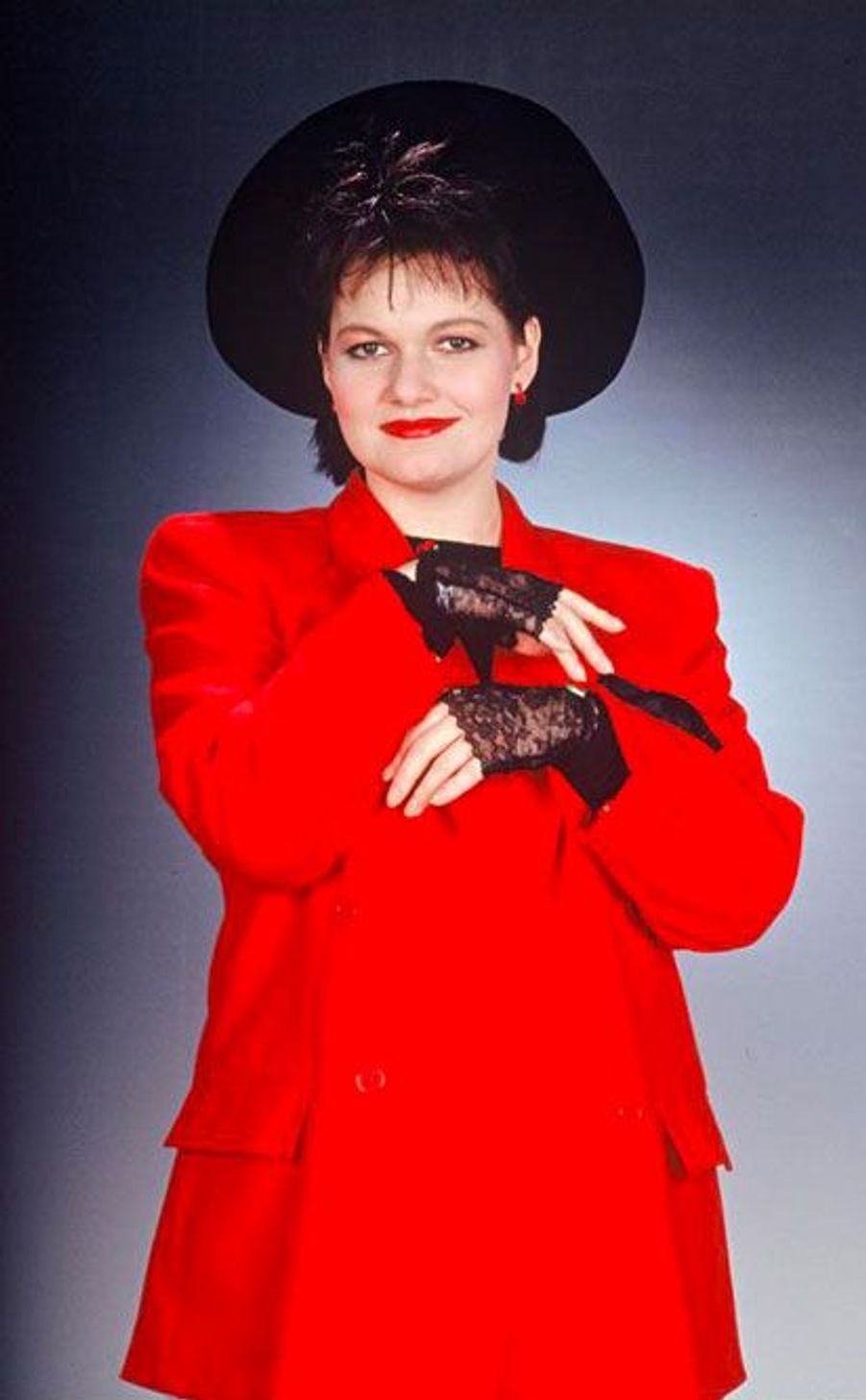 Maurane en 1988 dans les studios de l'émission «Sébastien c'est fou».