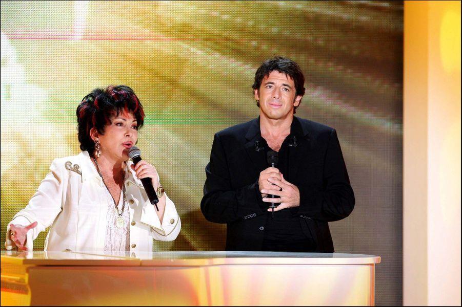 Rika Zaraï et Patrick Bruel à Vivement Dimanche en octobre 2006.