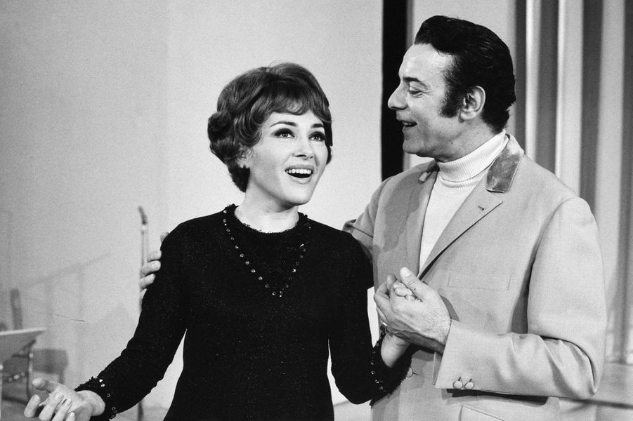 Rika Zaraï et Georges Guétary en 1969.