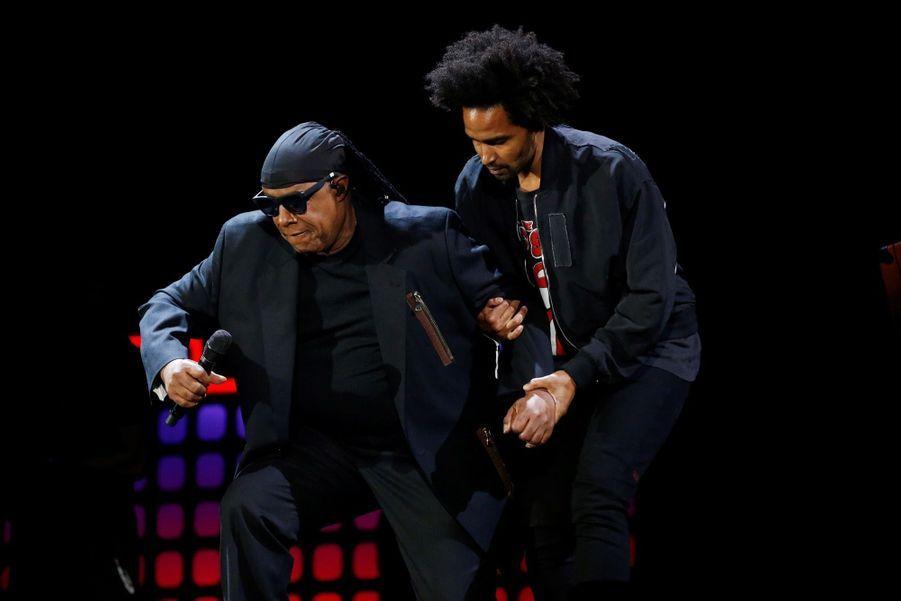 Stevie Wonder S'agenouille Durant Un Concert Contre La Pauvreté 6