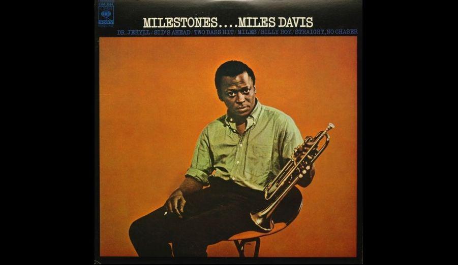 Pochette de l'album 33 tours «Milestones» paru en 1958