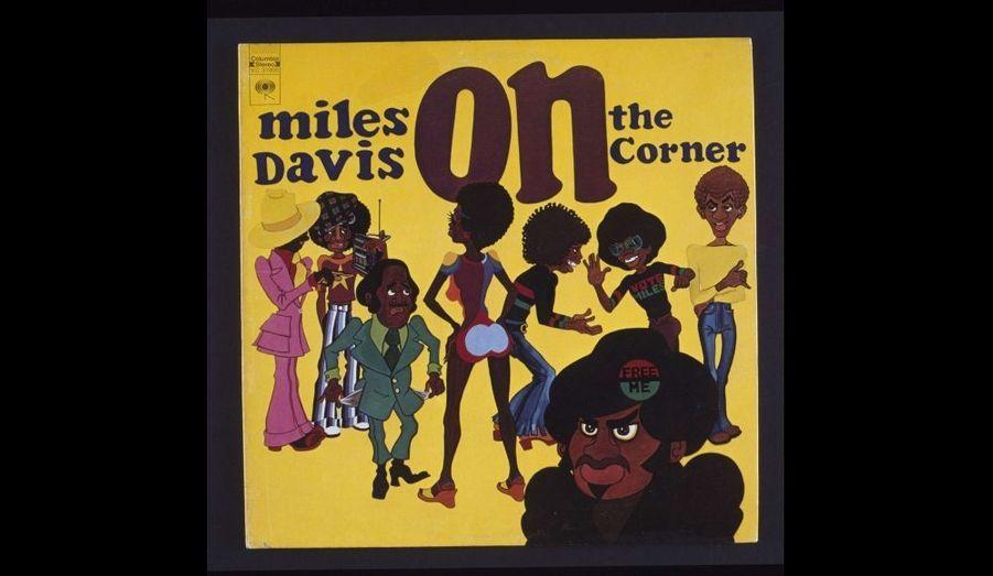 Pochette de l'album 33 tours On the Corner paru en 1972