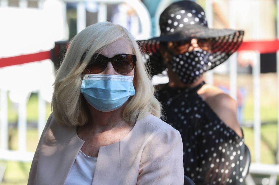 Michèle Torrà la cérémonie en hommage à Annie Cordy à Cannes, le 12 septembre 2020.