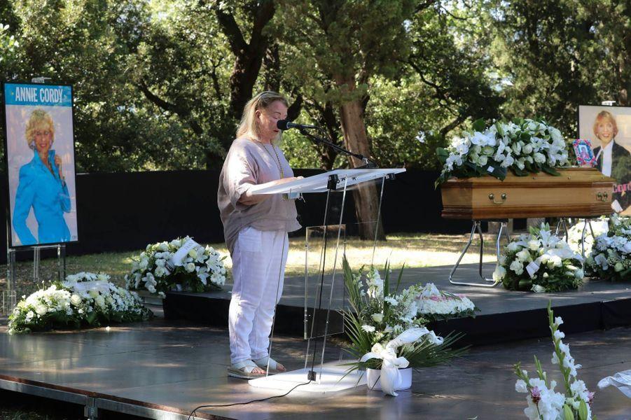 Michèle Lebon, sa nièce, à la cérémonie en hommage à Annie Cordy à Cannes, le 12 septembre 2020.