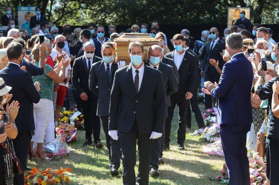 À la cérémonie en hommage à Annie Cordy à Cannes, le 12 septembre 2020.