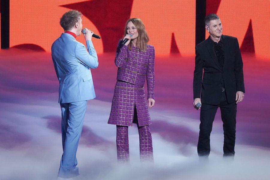 Eddy de Pretto, Vanessa Paradis et Etienne Daho lors des 36ème Victoires de la Musique.