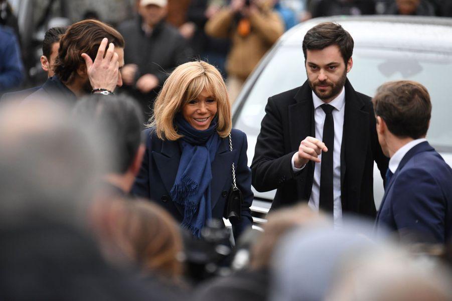 Brigitte Macron et son chef de cabinet Tristan Bromet